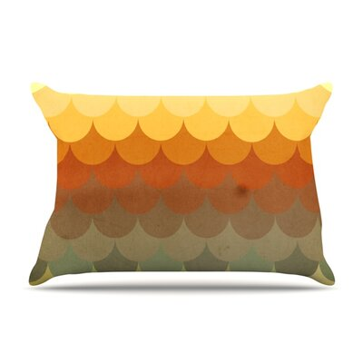 Half Circle Waves Color by Danny Ivan Featherweight Pillow Sham Size: Queen, Fabric: Woven Polyester