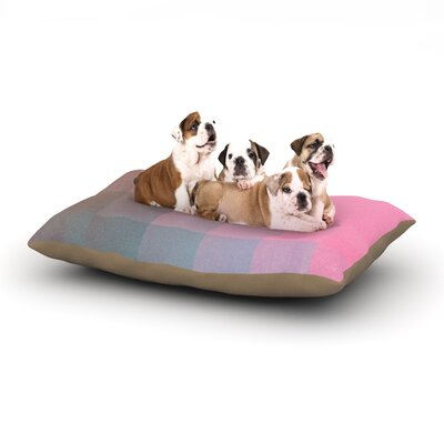 Danny Ivan Girly Pixel Surface Dog Pillow with Fleece Cozy Top Size: Large (50 W x 40 D x 8 H)