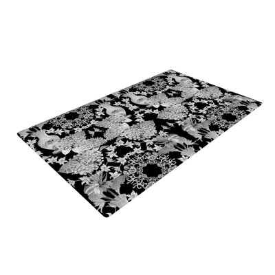 DLKG Design Versailles Black Black/Gray Area Rug