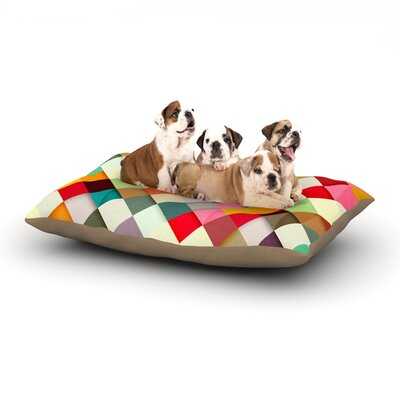 Danny Ivan Pass This On Dog Pillow with Fleece Cozy Top Size: Large (50 W x 40 D x 8 H)