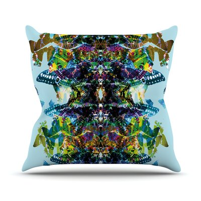 Butterfly by Danii Pollehn Rainbow Throw Pillow Size: 26 H x 26 W x 1 D