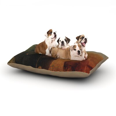 Danny Ivan Abstract Rhino Dog Pillow with Fleece Cozy Top Size: Large (50 W x 40 D x 8 H)