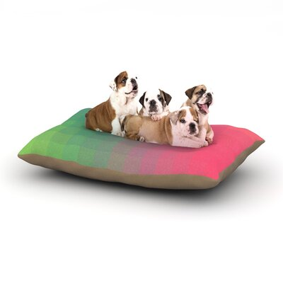 Danny Ivan Gradient Print Dog Pillow with Fleece Cozy Top Size: Small (40 W x 30 D x 8 H)