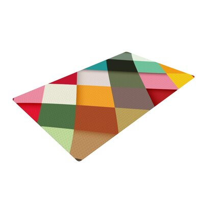 Danny Ivan Colorful Yellow/Gray Area Rug Rug Size: 4 x 6