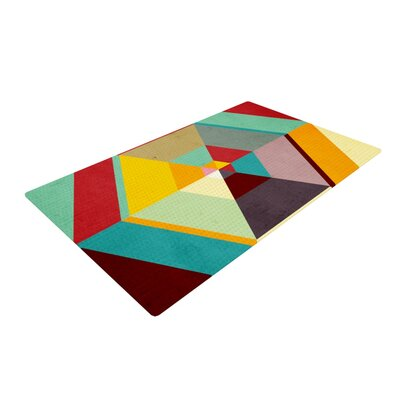 Danny Ivan Color Mess Blue/Yellow Area Rug Rug Size: 4 x 6