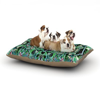 Danii Pollehn Grun Abstract Dog Pillow with Fleece Cozy Top Size: Small (40 W x 30 D x 8 H)