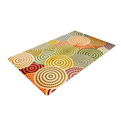 Danny Ivan Matias Girl Yellow/Red Area Rug Rug Size: 2 x 3