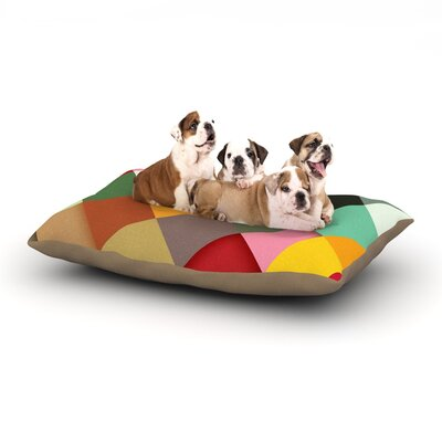 Danny Ivan Colorful Dog Pillow with Fleece Cozy Top Size: Large (50 W x 40 D x 8 H)
