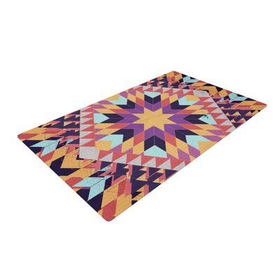 Danny Ivan Ticky Ticky Purple/Yellow Area Rug Rug Size: 2 x 3