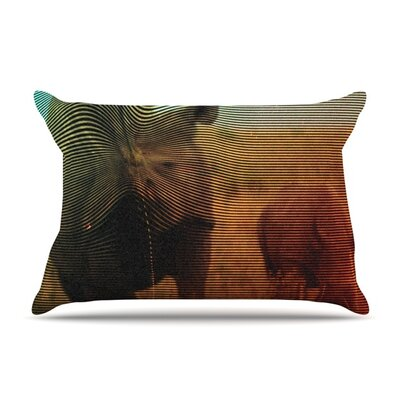 Abstract Rhino by Danny Ivan Featherweight Pillow Sham Size: Queen, Fabric: Woven Polyester
