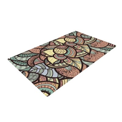 Danny Ivan Wild Run Black/Blue Area Rug Rug Size: 4 x 6