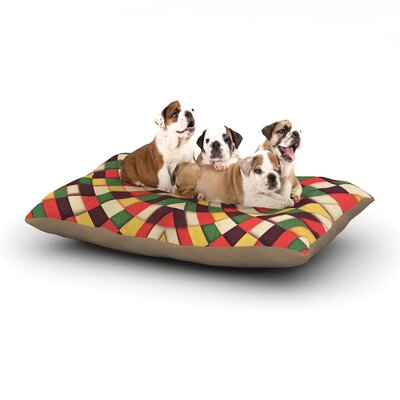 Danny Ivan Rastafarian Tile Dog Pillow with Fleece Cozy Top Size: Small (40 W x 30 D x 8 H)