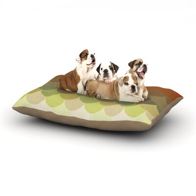 Danny Ivan Half Circle Waves Color Dog Pillow with Fleece Cozy Top Size: Large (50 W x 40 D x 8 H)