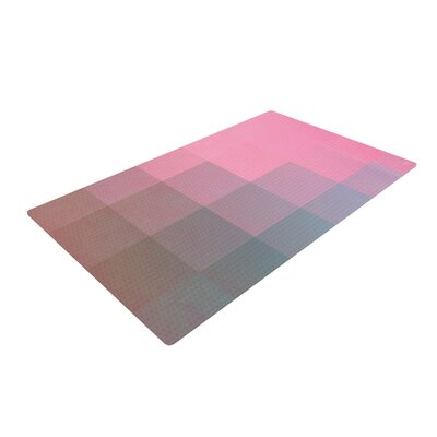Danny Ivan Girly Pixel Surface Pink Area Rug Rug Size: 4 x 6