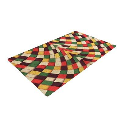 Danny Ivan Rastafarian Tile Pink/Green Area Rug Rug Size: 4 x 6