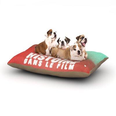 Danny Ivan Toi Histoire Dog Pillow with Fleece Cozy Top Size: Large (50 W x 40 D x 8 H)