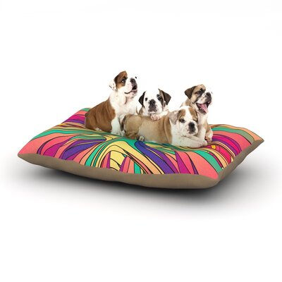 Danny Ivan Veins Abstract Dog Pillow with Fleece Cozy Top Size: Large (50 W x 40 D x 8 H)