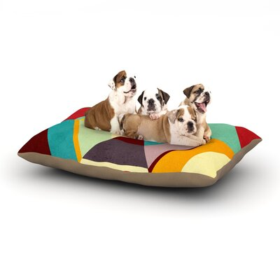 Danny Ivan Color Mess Dog Pillow with Fleece Cozy Top Size: Small (40 W x 30 D x 8 H)
