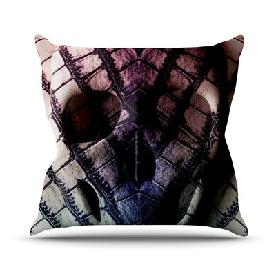 Skull Throw Pillow Size: 26 H x 26 W x 1 D