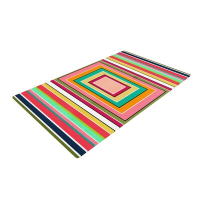 Danny Ivan Floor Pattern Pink/Green Area Rug