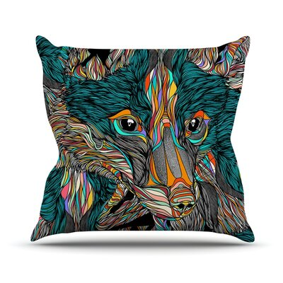 Fox by Danny Ivan Throw Pillow Size: 18 H x 18 W x 1 D