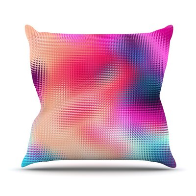 Abstract by Danny Ivan Throw Pillow Size: 18 H x 18 W x 1 D