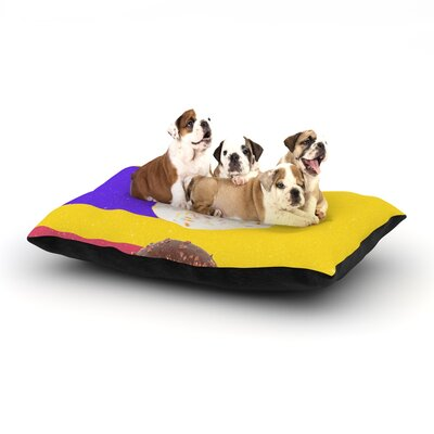 Danny Ivan Donuts Dog Pillow with Fleece Cozy Top Size: Small (40 W x 30 D x 8 H)