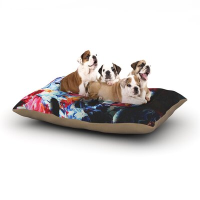 Danny Ivan Skull Light Dog Pillow with Fleece Cozy Top Size: Small (40 W x 30 D x 8 H)
