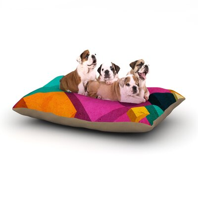 Danny Ivan Happy Cubes Dog Pillow with Fleece Cozy Top Size: Large (50 W x 40 D x 8 H)