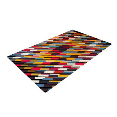 Danny Ivan Texturize Red/Blue Area Rug Rug Size: 2 x 3