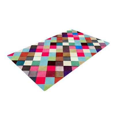 Danny Ivan Ubrik Pink/Blue Area Rug Rug Size: 2 x 3