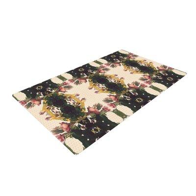 Deepti Munshaw Enchanted Garden Floral Tan Area Rug Rug Size: 2 x 3