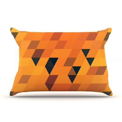 Gold Pattern by Danny Ivan Featherweight Pillow Sham Size: King, Fabric: Woven Polyester