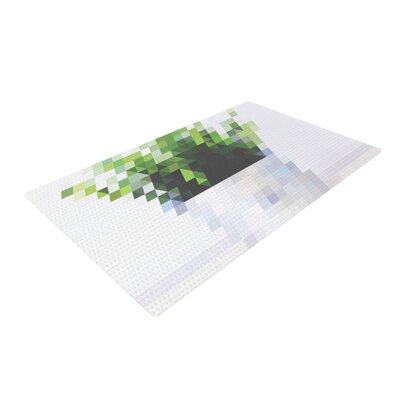 Danny Ivan Plant Green/White Area Rug Rug Size: 4 x 6
