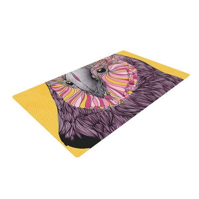 Danny Ivan Lovely Owl Yellow/Purple Area Rug Rug Size: 4 x 6
