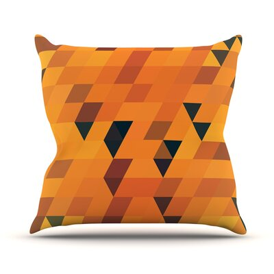 Gold Pattern Throw Pillow Size: 18 H x 18 W x 1 D