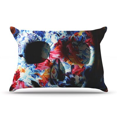 Skull Light by Danny Ivan Featherweight Pillow Sham Size: Queen, Fabric: Woven Polyester