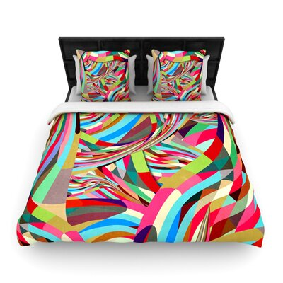 Fun Woven Comforter Duvet Cover Size: King