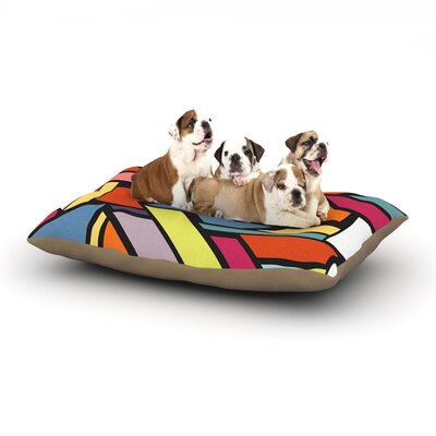 Danny Ivan Abstract Shapes Dog Pillow with Fleece Cozy Top Size: Small (40 W x 30 D x 8 H)