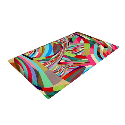 Danny Ivan Fun Pink/Green Area Rug Rug Size: 4 x 6
