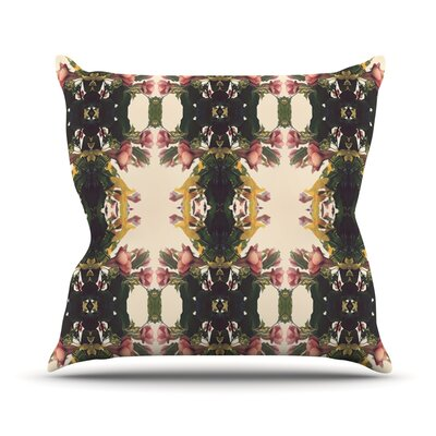 Enchanted Garden by Deepti Munshaw Floral Throw Pillow Size: 18 H x 18 W x 1 D