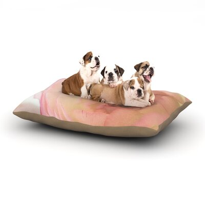 Debbra Obertanec Tranquil Rose Dog Pillow with Fleece Cozy Top Size: Small (40 W x 30 D x 8 H)