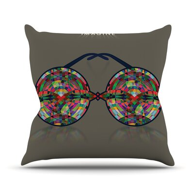 Imagine Rainbow Throw Pillow Size: 20 H x 20 W x 1 D