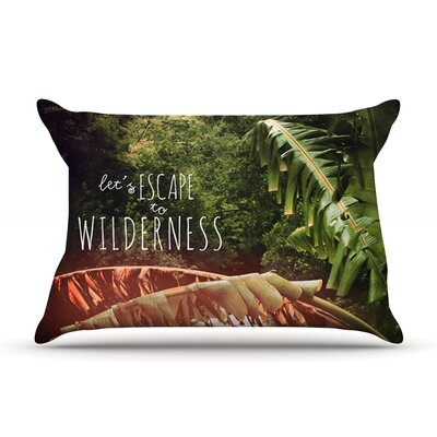 Deepti Munshaw Escape To Wilderness Forest Quote Pillow Case