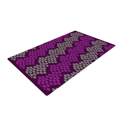 Deepti Munshaw Pattern #2 Chevron/Purple Area Rug