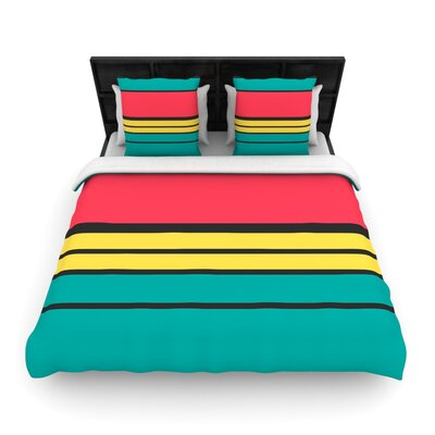 Simple Woven Comforter Duvet Cover Size: Full/Queen