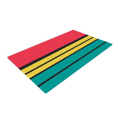Danny Ivan Simple Red/Green Area Rug Rug Size: 4 x 6