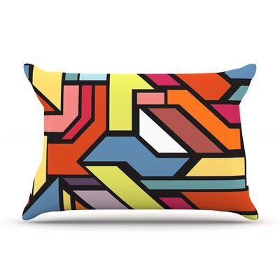 Abstract Shapes by Danny Ivan Featherweight Pillow Sham Size: Queen, Fabric: Woven Polyester