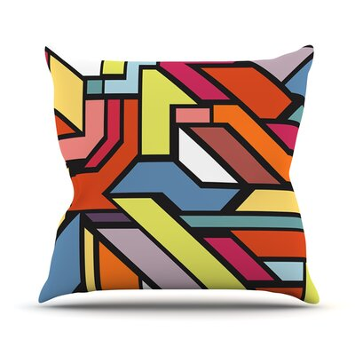 Abstract Shapes by Danny Ivan Throw Pillow Size: 16 H x 16 W x 1 D