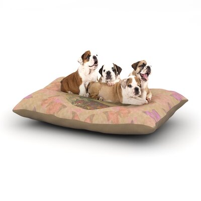 Deepti Munshaw Rebirth Butterfly Circle Dog Pillow with Fleece Cozy Top Size: Small (40 W x 30 D x 8 H)